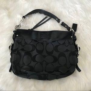 Authentic Coach handbag black monogram